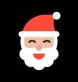 santa head merry christmas icon set flat design vector image vector image