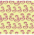 Seamless pattern with stylized burgundy hearts vector image vector image