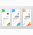 set of business colorful banners triangle vector image