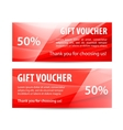 set of gift vouchers with wavy shiny blue vector image vector image