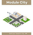 set of modern isometric buildings vector image