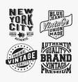 set various vintage stamp vector image vector image
