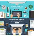 set web design and development process banners vector image vector image