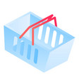 shop basket icon isometric style vector image vector image