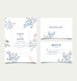 simple floral celebration wedding card invitation vector image