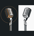standing singer microphone drawing vector image vector image