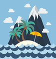 Summer beach and mountain vector image vector image