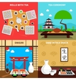 Sushi Concept Set vector image vector image