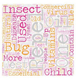 The Bug Stops Here text background wordcloud vector image vector image