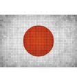 The mosaic flag of Japan vector image