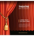Theater stage with a red curtain Vintage vector image vector image