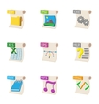 Types of files icons set cartoon style vector image vector image