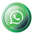 wathsapp logo inside a green bubble icon on a vector image vector image
