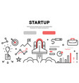 webstartup flat line design banner vector image