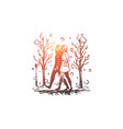 winter park women walking season vector image