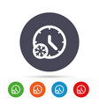 winter time icon snowy day daylight saving vector image