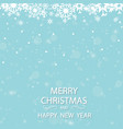 winter white background christmas made of vector image