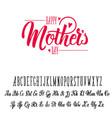 font handmade - modular and hand-written can be vector image
