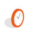 isometric clock icon alarm clock wake-up time vector image