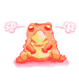a cartoon of a frog looking angry vector image