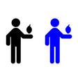 a man holding a lemon icon vector image vector image