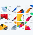 abstract material design style of elements vector image