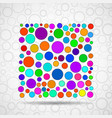 abstract square of colorful circles vector image