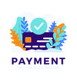 accepted payment credit card stock for landing vector image vector image