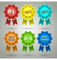 Award Badge with Ribbon Icons vector image vector image