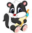 baby skunk cartoon vector image vector image