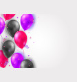 background with glossy air 3d flying balloons vector image vector image