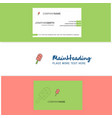 beautiful ice cream logo and business card vector image vector image