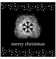 black background with white snow and snowflake vector image vector image