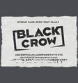 black crow strong vintage sans serif font vector image