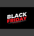 black friday sale banner minimal cut effect style vector image vector image