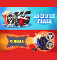 bright cinema horizontal banners vector image vector image