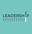 business leadership concept vector image vector image