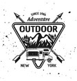 camping recreation and adventure emblem vector image vector image