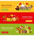 Canada banner set vector image vector image