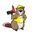 cartoon beavers with a screwdriver