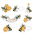Cartoon bees with honeycomb