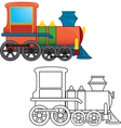cartoon locomotive vector image