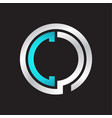 cc initial logo linked circle monogram vector image vector image