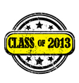 class of 2013 vector image vector image
