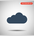 cloud icon blue color eps 10 vector image vector image