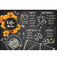 Coffee restaurant cafe menu template design vector image vector image