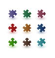 color puzzle pieces vector image