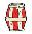 comic cartoon barrel vector image vector image