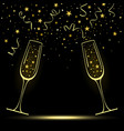 congratulatory banner with stylized champagne vector image vector image
