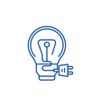 creative charge line icon concept creative charge vector image
